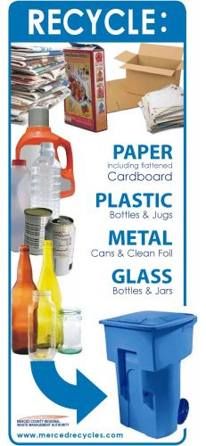 Recycle: Paper, Plastic, Metal, Glass