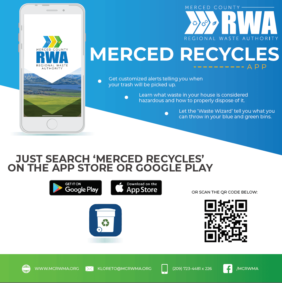 Merced Recycels app graphic